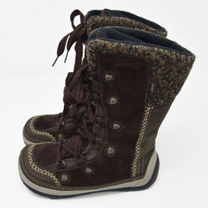 *Merrell Sz 5 Brown Suede Puffin Lace High Boots